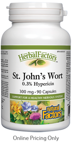 NATURAL FACTORS ST. JOHNS WORT 300mg 90caps