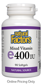 NATURAL FACTORS MIXED VITAMIN E 400IU 90sg