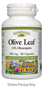 NATURAL FACTORS OLIVE LEAF 500mg 90caps