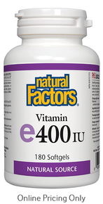 NATURAL FACTORS VITAMIN E 400IU 180sg