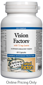 NATURAL FACTORS VISION FACTORS WITH 7.5mg LUTEIN 60caps