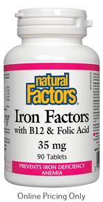 NATURAL FACTORS IRON FACTORS 35mg 90tabs