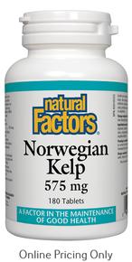 NATURAL FACTORS NORWEGIAN KELP 575mg 180tabs