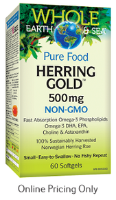 NATURAL FACTORS WHOLE EARTH AND SEA HERRING GOLD 500mg 60sg