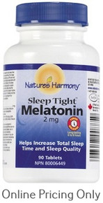 NATURES HARMONY MELATONIN TIME RELEASE 2mg