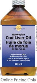 NATURES HARMONY COD LIVER OIL PLAIN 500ml