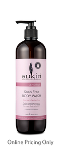 SUKIN SENSITIVE BODY WASH 500ml