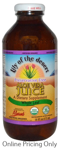LILY OF THE DESERT ALOE WHOLE LEAF JUICE PRESERVATIVE FREE 473ml