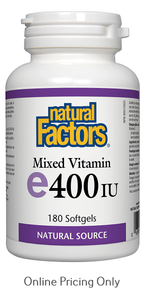 NATURAL FACTORS MIXED VITAMIN E 400IU 180sg