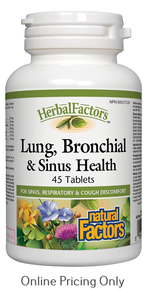 NATURAL FACTORS LUNG BRONCHIAL AND SINUS HEALTH 45tabs