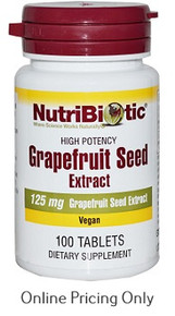NUTRIBIOTIC Grape Seed Extract 125mg 100tabs