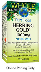 Natural Factors Whole Earth and Sea Herring Gold 1000mg 60sg