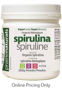 PRAIRIE NATURALS ORGANIC SPIRULINA POWDER 200g