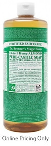DR BRONNERS ALMOND CASTILE SOAP 946ml