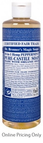 DR BRONNERS PEPPERMINT CASTILE SOAP 472ml