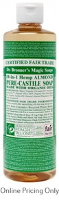 DR BRONNERS ALMOND CASTILE SOAP 472ml