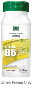 BELL VITAMIN B6 60mg 60caps