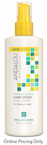 ANDALOU NATURALS HAIR SPRAY MEDIUM HOLD 242ml