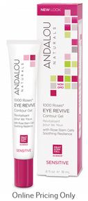 ANDALOU NATURALS 1000 ROSES EYE REVIVE CONTOUR GEL 18ml