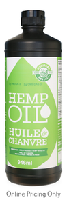 MANITOBA HARVEST HEMP SEED OIL COLD PRESSED 946ml