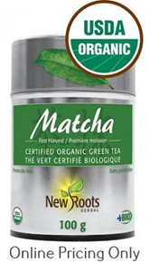 NEW ROOTS ORGANIC MATCHA GREEN TEA 100g