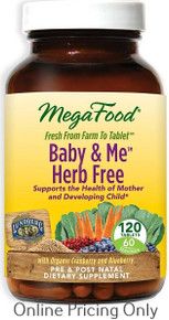 MEGAFOOD HERB FREE BABY AND ME 120tabs