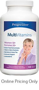 PROGRESSIVE MULTIVITAMIN WOMEN 50+ 120caps
