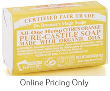 DR BRONNERS CITRUS SOAP BAR 142g