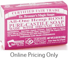 DR BRONNERS ROSE SOAP BAR 140g