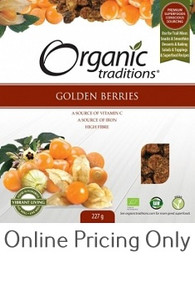 ORGANIC TRADITIONS GOLDEN BERRIES 227g
