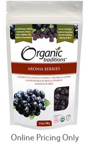 ORGANIC TRADITIONS ARONIA BERRIES 100g