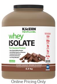 KAIZEN NATURALS WHEY ISOLATE CHOCOLATE 2.3kg