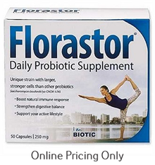 FLORASTOR DAILY PROBIOTIC 5BILLION 250mg 50caps