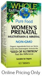 Natural Factors Whole Earth and Sea Women's Prenatal 60tabs