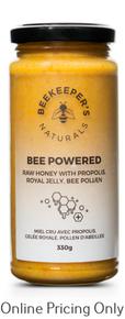 Beekeepers Powered Raw Honey 330g