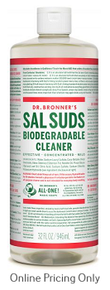 DR BRONNERS SAL SUDS CLEANER 946ml