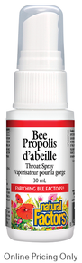 NATURAL FACTORS BEE PROPOLIS THROAT SPRAY 30ml