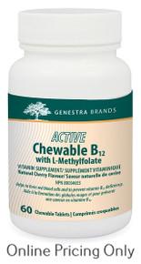 GENESTRA BRANDS ACTIVE CHEWABLE B12 + METH 60s