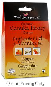 Wedderspoon Manuka Drops Ginger 120g