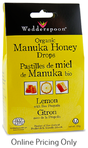 Wedderspoon Manuka Drops Lemon 120g
