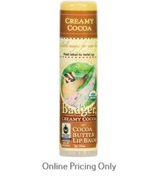 Badger Creamy Cocoa Lip Balm 7g