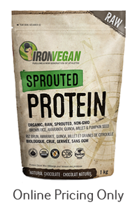 IRON VEGAN SROUTED PROTEIN NATURAL CHOCOLATE 500G
