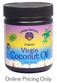 OMEGA NUTRITION VIRGIN COCONUT OIL 454g