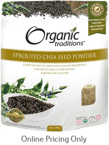 ORGANIC TRADITIONS SPROUTED CHIA SEED POWDER 454g