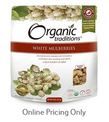 Organic Traditions White Mulberries 227g