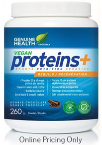 GENUINE HEALTH VEGAN PROTEINS+ DOUBLE CHOCOLATE 260g