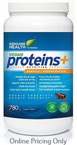 GENUINE HEALTH VEGAN PROTEINS+ DOUBLE CHOCOLATE 780g