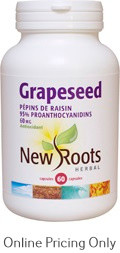 NEW ROOTS GRAPESEED EXTRACT 60mg 60caps