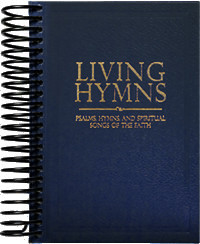 Living Hymns Large Print Piano Book Navy