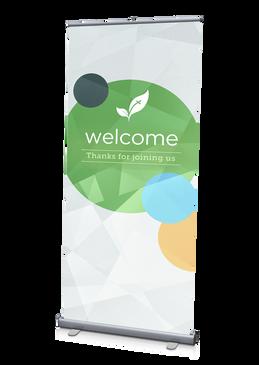Welcome Banner Geometric 3'x6.5'